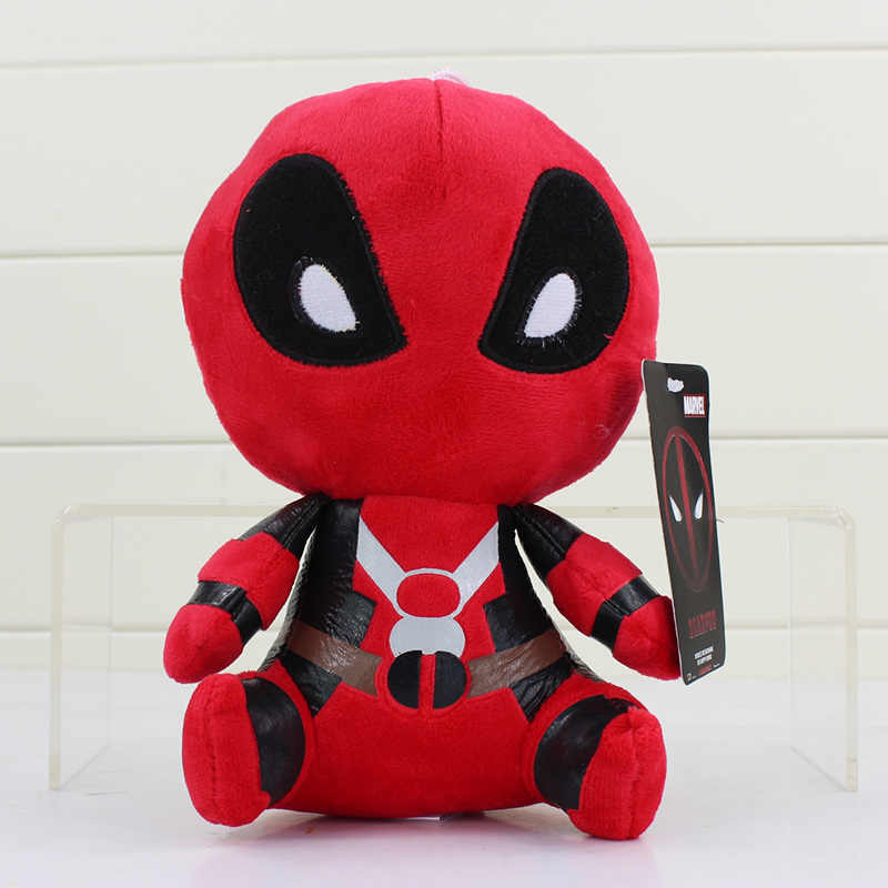 20 cm 1 pcs Deadpool Dead pool Super hero Spiderman Plush Macio Stuffed Plush Toy Boneca para crianças presentes