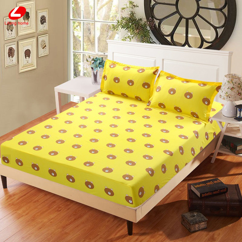 Home textile bed sheet sheet flower mattress cover printing bed sheet elastic rubber bedclothes 180*200cm summer bedspread band 42