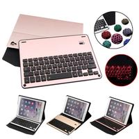 Ultra Thin Folio Cover With Removable Bluetooth Keyboard With 7color Backlit For 10 5 IPad Pro