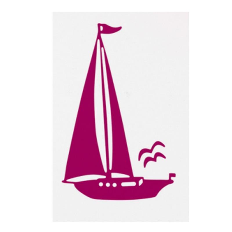 Beautiful Sailing Boat  Metal Cutting Dies Stencils For Scrapbook Paper Car ~PL