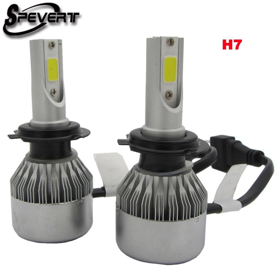 SPEVERT D1S/D3S D2S/D4S H7 H1 H8/H9/H1 H4/9003 COB LED Ampoule avant de voiture 110W 20000LM 6000K Ampoule auto 12v Car Headlamp