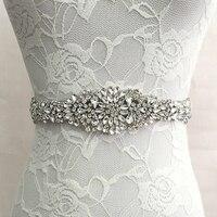 טרנדי קריסטל מפואר כלה חגורת אבנט חגורות נשים שמלת רצועה פרחונית נשי יוקרה יהלומים בגימור לחתונה