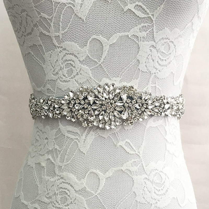 Trendy Magnificent Crystal Bridal Luxury Female Strap Florals