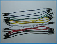 "504 pcs Jumper wire Male to Male 1 Pin Pitch 2.54mm 6 colors 15cm(6"")"