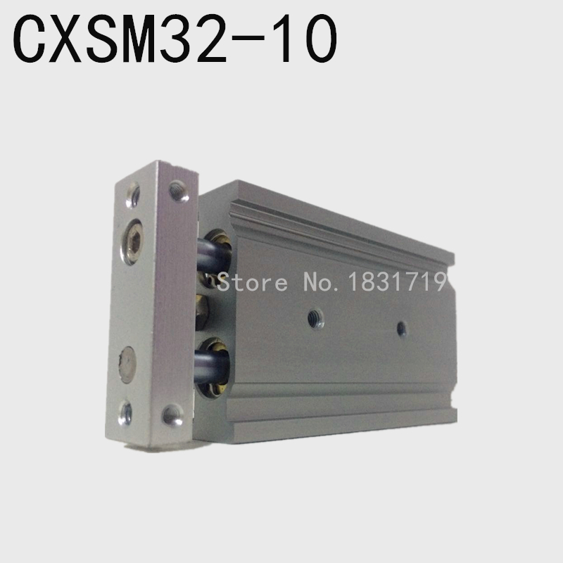 SMC type CXSM32-10 CXSM32*10 double cylinder / double shaft cylinder / double rod cylinder 32mm bore 10mm stroke tn10x45 s two axis double bar new air cylinder double shaft double rod 10mm bore 45mm stroke pneumatic cylinder