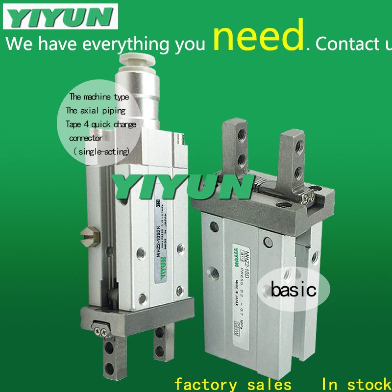 MHZ2-40D YIYUN standard type cylinder parallel style air gripper pneumatic component MHZ seriesMHZ2-40D YIYUN standard type cylinder parallel style air gripper pneumatic component MHZ series