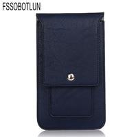 FSSOBOTLUN 4 Colors Double Portable Waist Belt Clip Holster Mobile Phone Case For ZTE Max Duo