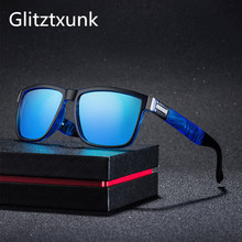 Glitztxunk Brand Design Polarized Sunglasses Men Driver Shades Male Vintage Sun Glasses For Spuare Mirror Goggle Oculos