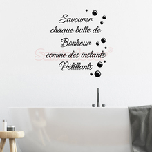 Sticker-citation Bulle De Bonheur Vinyl Wall Decor Bathroom Art Decal Shower Room Home Poster House Decoration