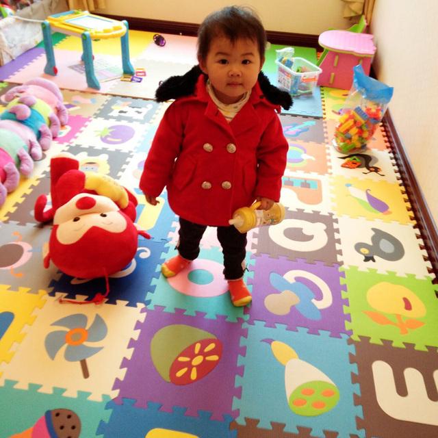 De los niños suave eva puzzle mat alfombra de juego bebé rompecabezas animal/carta/de dibujos animados eva colchoneta de espuma, alfombras de piso pad para niños juegos SGS