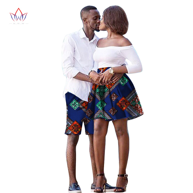 c9bce73d9 The New listing Lovers 2019 Women skirt Men shorts African Clothing  Matching Dashiki Couples Clothes summer 6xl cotton WYQ41