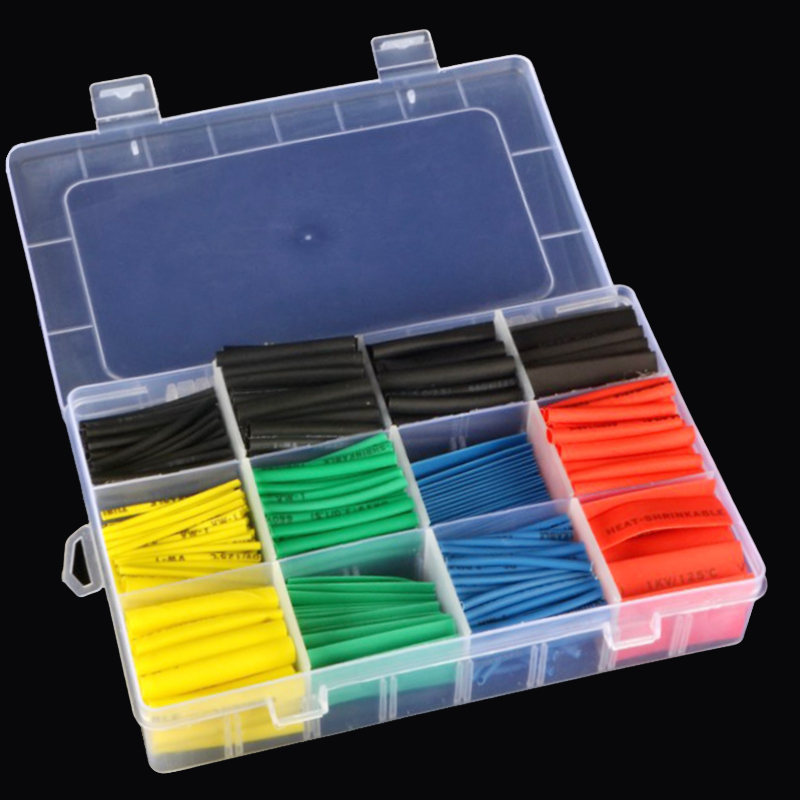 Connectors Electrical-Cable-Tube-Kits Assorted Heat-Shrink-Tube 530pcs Mixed-Color Tubing-Wrap-Sleeve