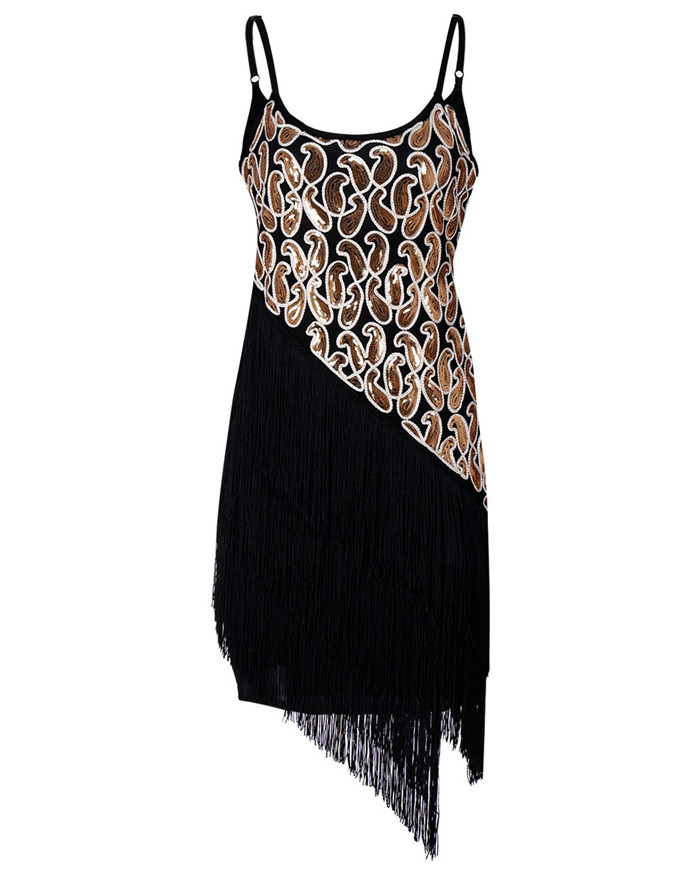 c8d43cc57d US $25.19 25% OFF|Sexy Women 1920s Paisley Art Deco Sequin Tassel Glam  Party Great Gatsby Dress Latin Tango Ballroom Salsa Dance Dress Big Size-in  ...