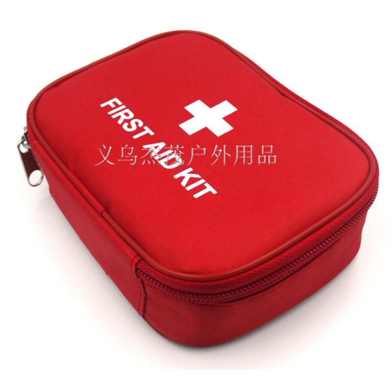 Наружный путешествия мини-автомобиля аптечка первой помощи сумка дома небольшой медицинский коробка комплект аварийного размер 15 * 11 * 4 см