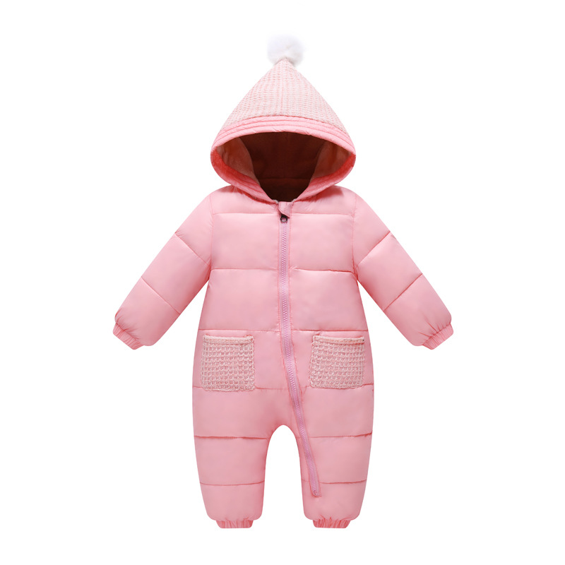 kids candy Rompers Winter autumn children newborn baby  thick long sleeve   with Knitted hats baby climbing Solid  clothes skullies beanies newborn cute winter kids baby hats knitted pom pom hat wool hemming hat drop shipping high quality s30