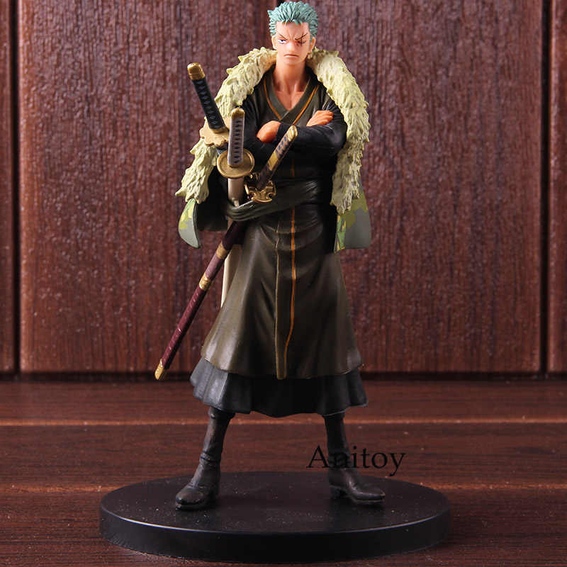 Banpresto One Piece DXF The Grandline Men Roronoa Zoro 15th Edition Vol.5 PVC Zoro Roronoa Figure Action Collectible Model Toy