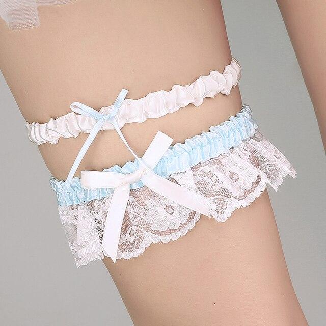 8cba63518 Novo Lance Conjunto Liga Nupcial Do Laço Do Vintage para o Casamento  Mulheres Noiva Do Casamento