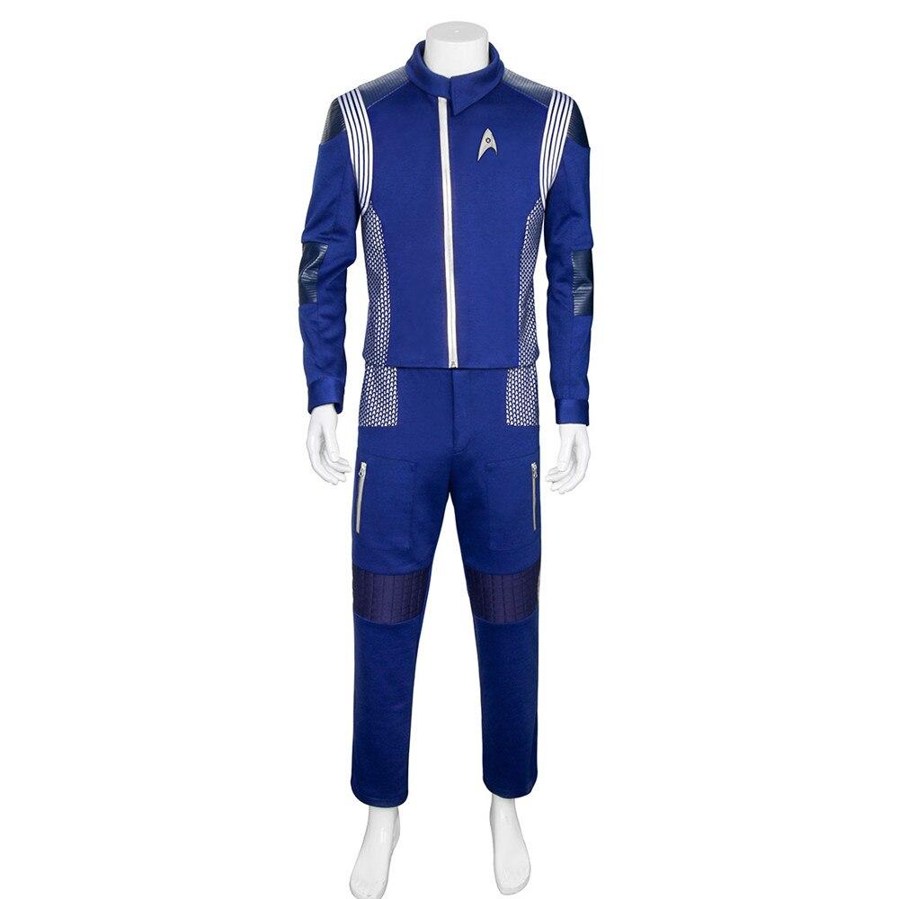 Pour Star Trek Découverte Commandant Uniforme Cosplay Costume Nouveau Starfleet USS Découverte Capitaine Saru Duty Outfit Cosplay Ensemble
