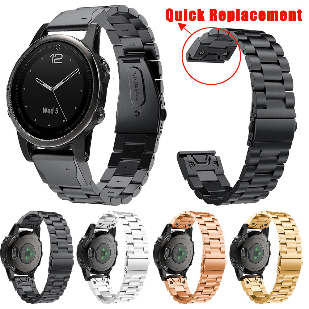 Watch band For Garmin Fenix 5S Watch Quick Replacement Stainless Steel Easy Fit Wrist Band For Garmin Fenix 5S Watch May2 цена