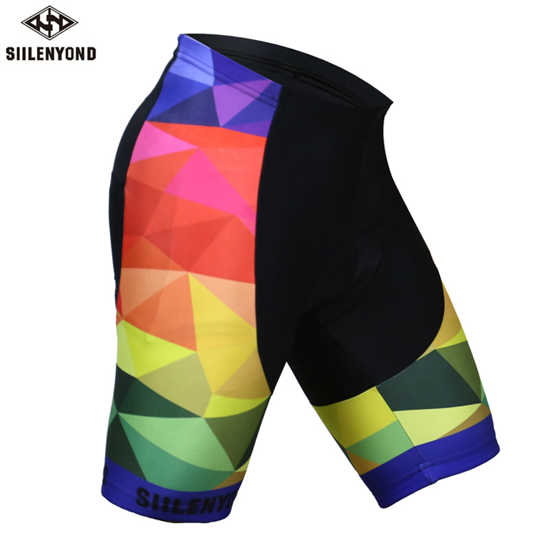 Siilenyond Bicycle Cycling Shorts 2018 men 3D silicone Gel Padded Shockproof MTB Mountain Bike Shorts sports Coolmax Underwear