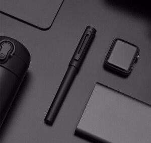 Image 4 - جديد وصول KACO معدن الألومنيوم الراقية اللوحة نافورة القلم مع صندوق حديد ، F بنك الاستثمار القومي 0.5 مللي متر حبر القلم هدية مجموعة للعمل مكتب