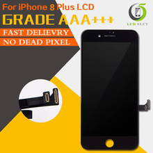 Wysokiej jakości dotykowy 3D pantalla AAA + dla iPhone 8 Plus wyświetlacz LCD o wysokiej gamie kolorów ekran dotykowy wymiana zespołu + narzędzia prezent