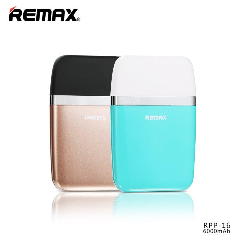 גיבוי חיצוני בנק כוח USB נייד 6000 mAh חדשה רימקס סוללה לiphone5s 6 S פלוס סמסונג s5/6/7 Xiao Mi5 אנדרואיד אוניברסלי