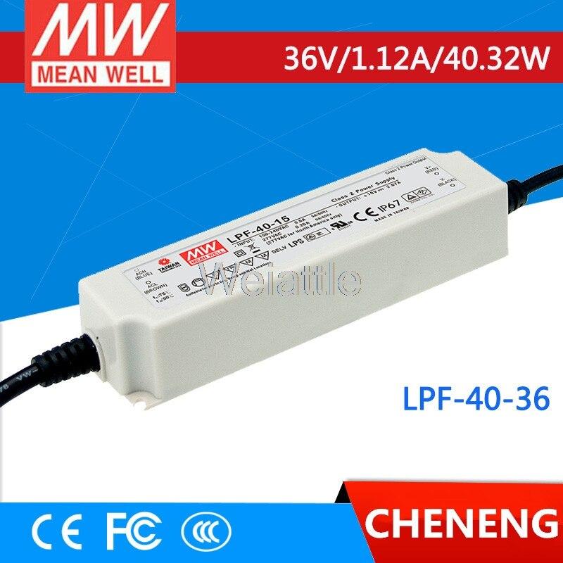 Moyenne bien original LPF-40-36 36 V 1.12A meanwell LPF-40 36 V 40.32 W unique sortie commutateur de courant LEDMoyenne bien original LPF-40-36 36 V 1.12A meanwell LPF-40 36 V 40.32 W unique sortie commutateur de courant LED