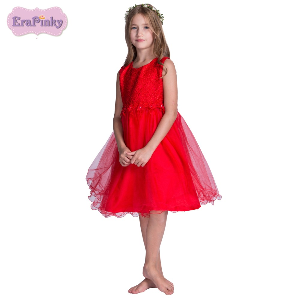 Erapinky 2018 Kids Teens Clothes Casual Baby Girl Dress O Neck Princess Girl Clothing Flower Dresses For Girls Summer Dress summer 2017 new girl dress baby princess dresses flower girls dresses for party and wedding kids children clothing 4 6 8 10 year