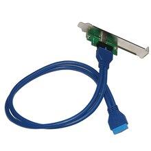 Интерфейс 19PIN/20-контактный USB3.0 к TYPE-C адаптер 20pin к USB 3.0 type c расширение сетевой адаптер карты