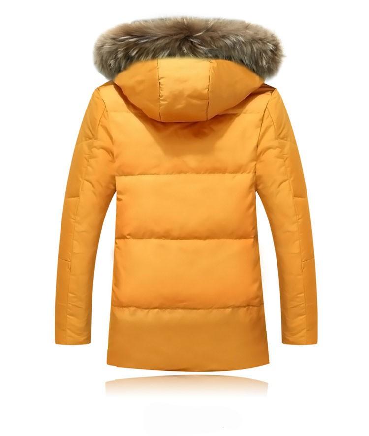 Winter Down Jacket Men Fur Parka Fashion Casual Thicken Warm Fur collar Hooded Men Women jacket&coat couple Down Jacket S-5XL (19)