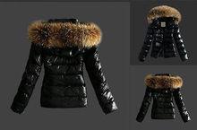 NEW Fashion Warm Women Winter Outerwear Black Ladies Faux Fur Parka Hooded Jacket Coat