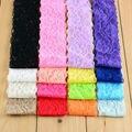 32pcs/lot 16 colors Handmade Beautiful Baby Girl Lace Hairband Elastic Headband for Kids Children DIY Garments Hair Accessories