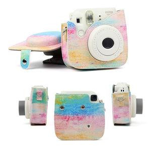 Image 4 - Optional Carry PU Leather Bag Case Cover with Shoulder Strap For Fujifilm Instax Mini 9 Mini 8 Mini 8+ Instant Film Photo Camera