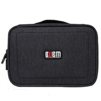 BUBM Double Layers Handheld Travel Wire Storage Bag Electronics Accessories Organizer Case For Charging Cable Power