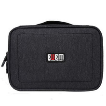 BUBM Waterproof  Double Layers Handheld Travel Wire Storage Bag Electronics Accessories Organizer for Charging Cable Headphone