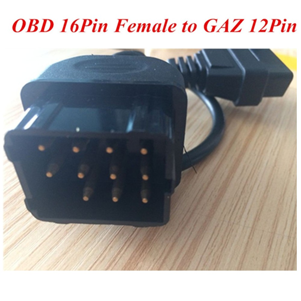 Gm 12 pin obd obd2 connector for gm 12pin adapter to 16pin for gm cars - Gaz 12 Pin 12pin Male To Obd Obd2 Obdii Dlc 16 Pin 16pin Female Car Diagnostic