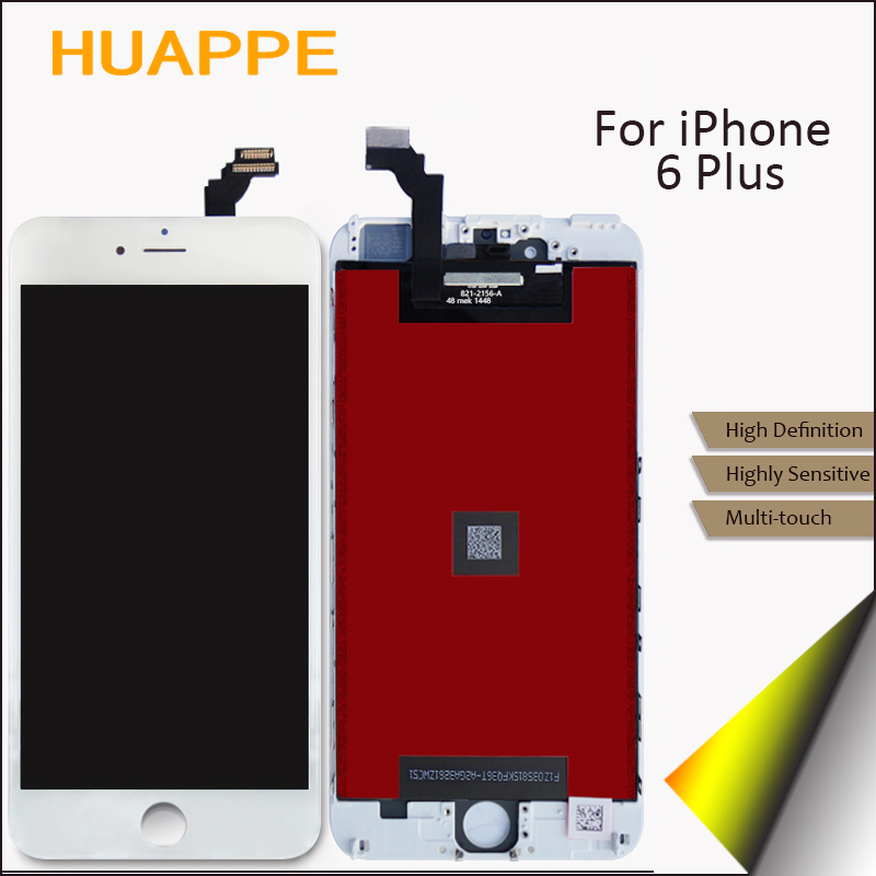 5PCS/LOT AAA Good Quality LCD For iPhone 6 Plus Display Screen Touch Replacement No Dead Pixel 5.5 inches White Black DHL Ship 5pcs lot official original new a quality screen for 6s lcd display black white