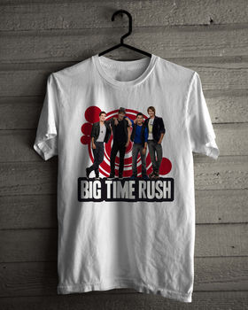 Camiseta Big Time Rush, camiseta blanca de Nueva Sudadera con capucha talla S-3XL para hombre, camiseta estampada 100% algodón, camiseta Original de manga corta para hombre