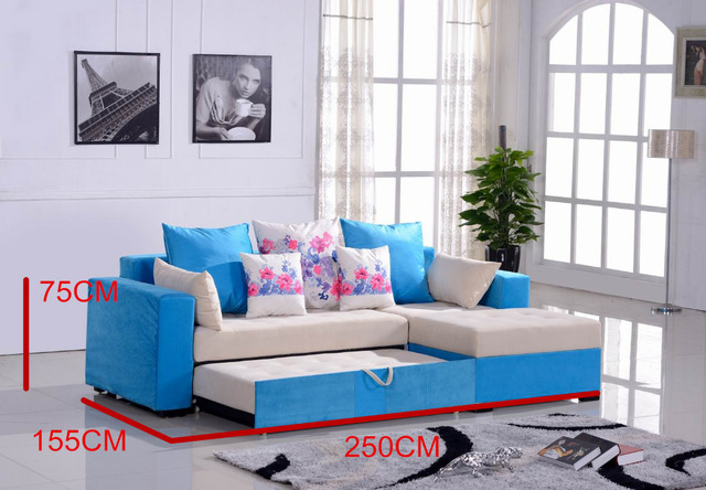 8009 Furniture Sofa Set Living Room Modern Colorful Fabric Bed