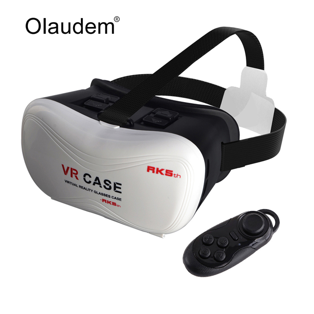 2016 Hot VR Glasses Google Cardboard VR BOX VR Case Virtual Reality 3D Glasses + Smart Bluetooth Wireless Controller VR618