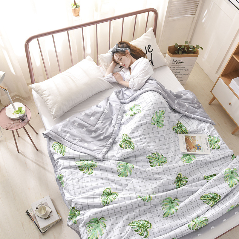 100%Cotton Cartoon Bedspread Summer Quilt Blanket Comforter Bed Cover Quilting Home Textiles Suitable for Children adult
