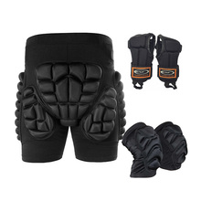 5 Pcs/Set Outdoor Sports Protective Skiing Hip Pad Knee Pads Wrist Support Palm Skating Snowboard Roller Pad Impact Protection