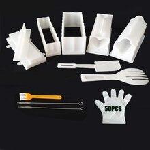 """IYouNice 11 шт./компл. DIY """"сделай сам"""" для изготовления суши, форма для риса Кухня устройство для изготовления суши набор из 11 формочек для суши, Пособия по кулинарии инструменты"""