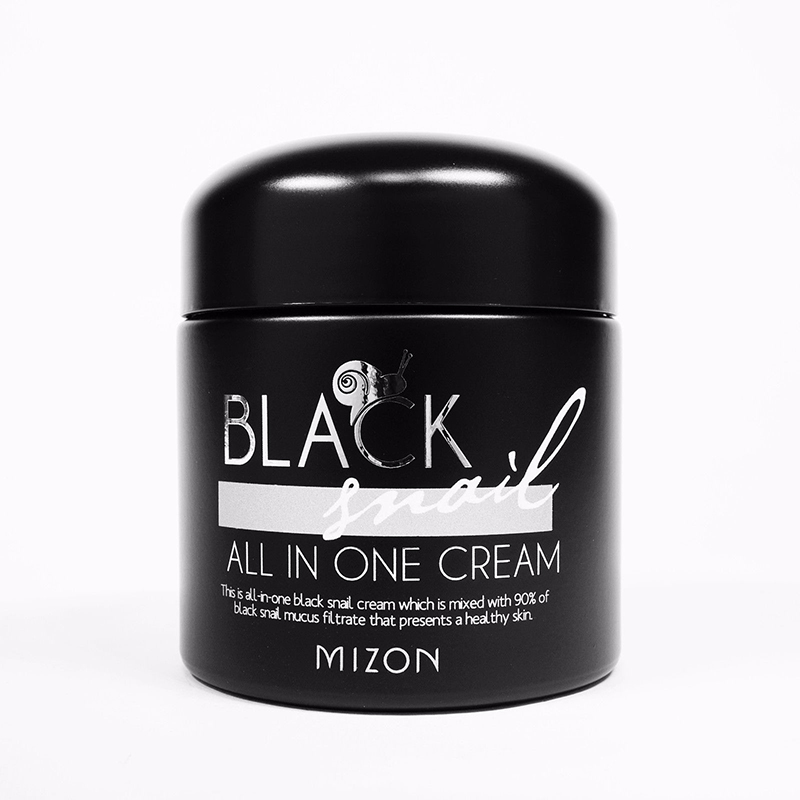 MIZON Black Snail All in one Cream 75ml Face Cream Whitening Firming skin Moisturizing Anti Wrinkle Aging Repair Facial Cream 1000g selected pigskin collagen anti wrinkle anti aging moisturizing shrink pores sleep mask whitening pale spot firming repair