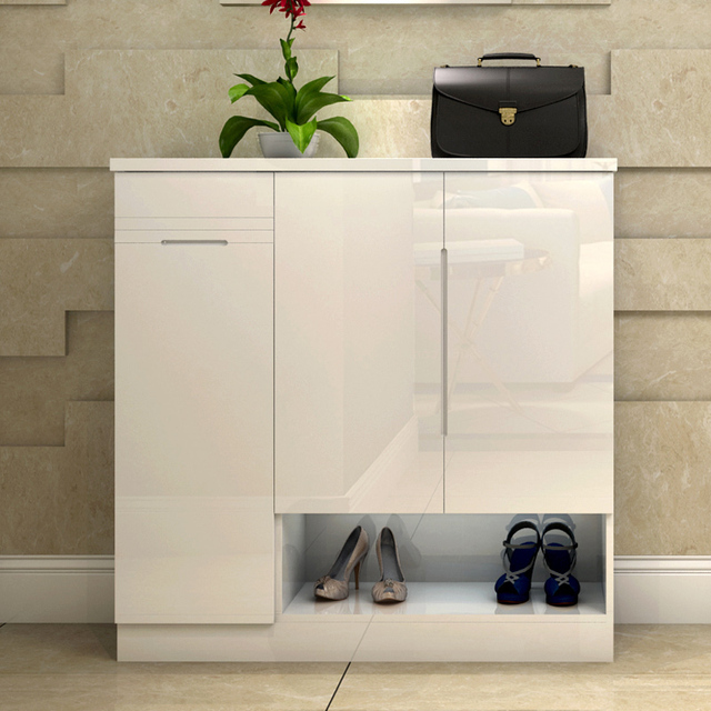 High Quality Man Patriarch Shoe Cabinet Modern Minimalist Foyer Entrance Cabinet  European Shoe Thin Paint Large Capacity Shoe