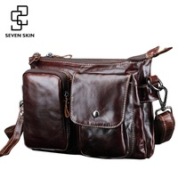 High Quality Men S Messenger Bag Male Genuine Cowhide Leather Crossbody Shoulder Bags Vintage Design Retro