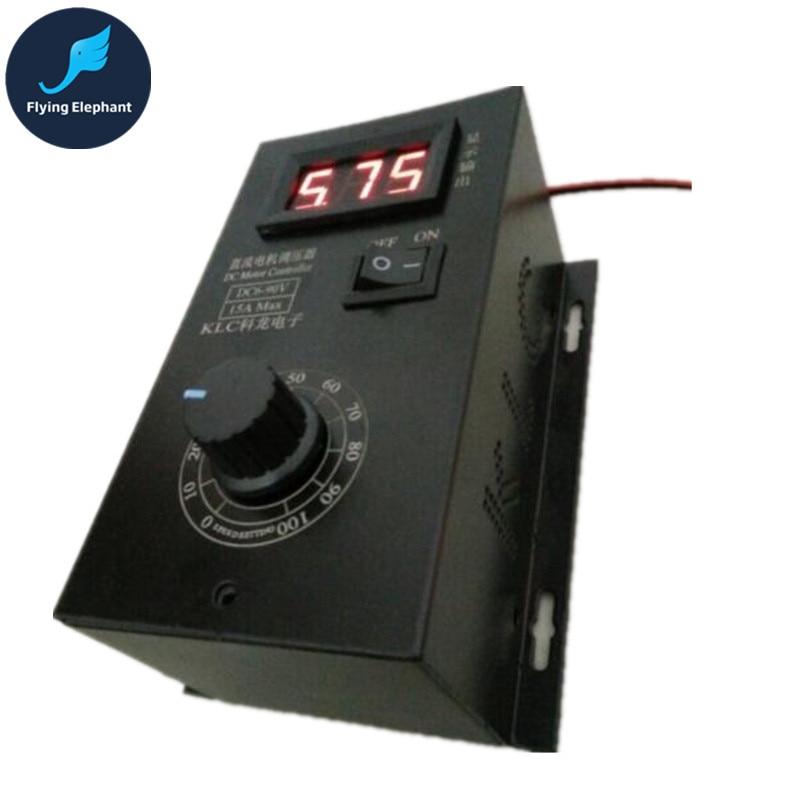 DC6V-90V Digital PWM DC Motor Controller 8A 15A 0-100% Adjustable dynacord dynacord d 8a