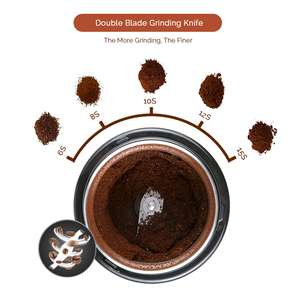 Image 3 - Easehold 200 watt Elektrische Kaffeemühle Edelstahl Körper Große Kapazität für Salz Pfeffer Grinder Leistungsstarke bean Schleifen Maschine