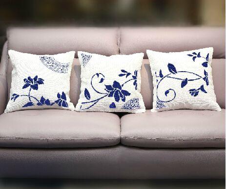 3 unids mano hecha de tejidos de punto de cruz classic funda de almohada cojines para sala de - Cojines grandes ...